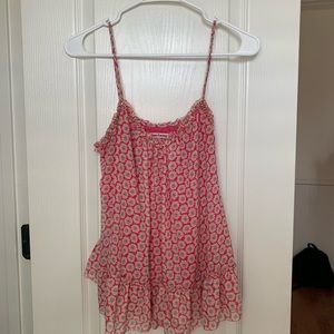 Juicy couture ruffle tank top pink floral